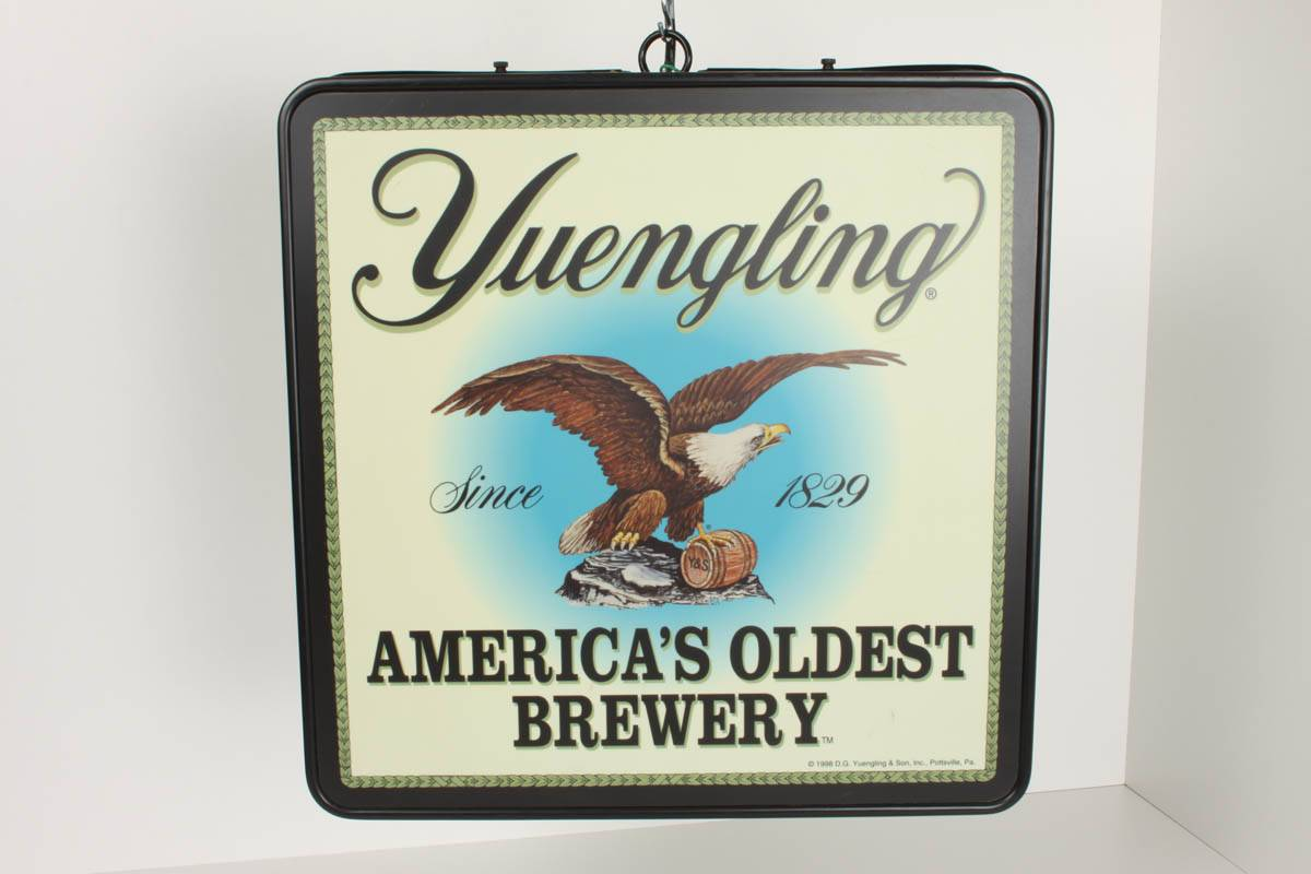 Yuengling Lighted Beer Sign Bar Vintage Ad 18 x18 inch
