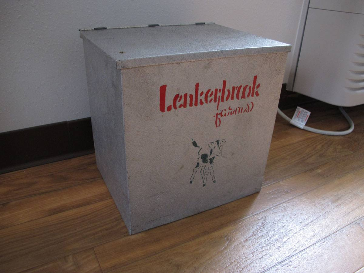 Lenkerbrook Farms Milk Dairy Box Home Delivery Aluminum