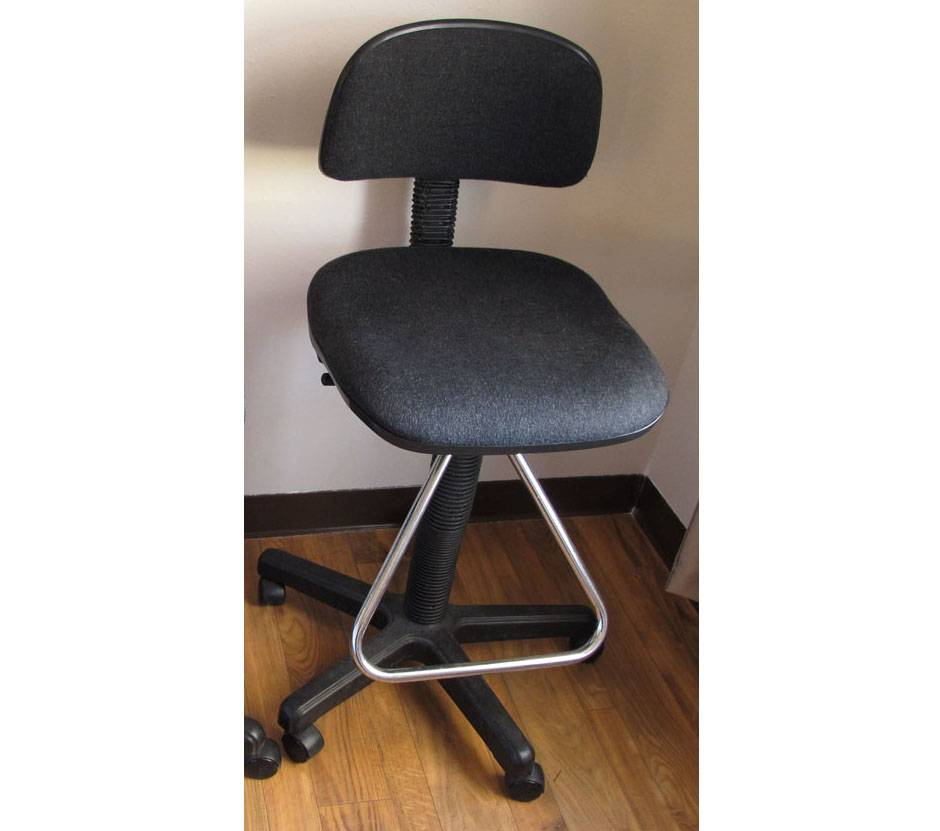 1 Bar Stool Counter Stools Black Drafting Chairs Works
